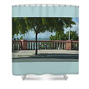 Balcony On The Beach In Naguabo  Puerto Rico Shower Curtain