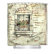Balcony Venice Shower Curtain