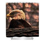 Bald Eagle Electrified Shower Curtain