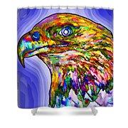 Bald Eagle Face Shower Curtain