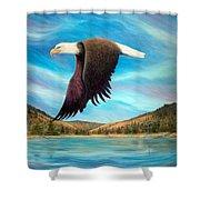 Bald Eagle Shuswap Rhapsody Shower Curtain