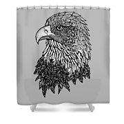 Bald Eagle Zentangle Shower Curtain