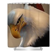 Bald-headed Eagle Sculpture Shower Curtain