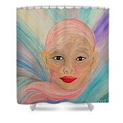 Bald Is Beauty With Brown Eyes Shower Curtain