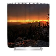 Bald Mountain Sunset Shower Curtain