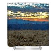 Bald Mountain Sunset Shower Curtain