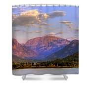 Baldy Shadow Mountain Lake Shower Curtain