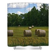 Bales In The Field Shower Curtain