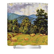 Bales Of August Shower Curtain