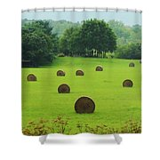 Bales Of Hay Shower Curtain
