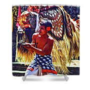 Bali Barong And Kris Dance  - Paint Shower Curtain