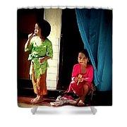 Bali Children Shower Curtain