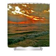 Bali Evening Sky Shower Curtain