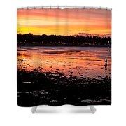 Bali Fisherman Sunset Shower Curtain