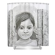 Bali Girl  Shower Curtain