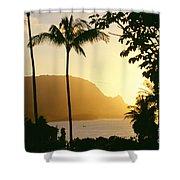 Bali Hai, Yellow Shower Curtain