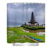 Bali Lake Temple Shower Curtain