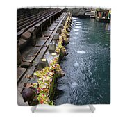 Bali Temple Offerings Shower Curtain