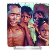 Balinese Gothic - Paint Shower Curtain