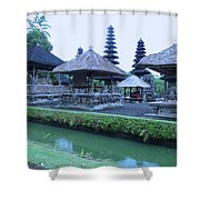 Balinese Temple By The Water Shower Curtain