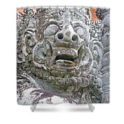 Balinese Temple Guardian Shower Curtain