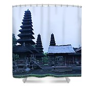 Balinese Temple On Side Shower Curtain
