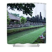 Balinese Temple With Flower Shower Curtain