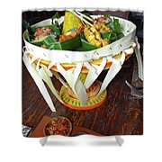 Balinese Traditional Dinner Basket Shower Curtain