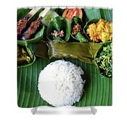 Balinese Traditional Lunch Shower Curtain