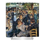 Ball At The Moulin De La Galette 1876 Shower Curtain