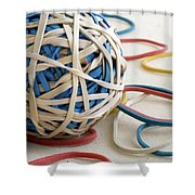Ball Of Bands Shower Curtain