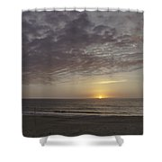 Ball Of Gold On The Horizon Shower Curtain