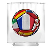 Ball With Flag Of France In The Center Shower Curtain