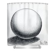 Ball With Shadow Shower Curtain