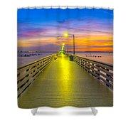 Ballast Point Sunrise - Tampa, Florida Shower Curtain