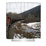 Ballast Train Shower Curtain
