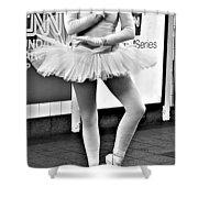 Ballerina B W Shower Curtain