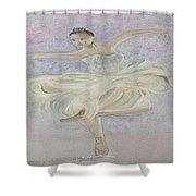 Ballerina Dancer Shower Curtain