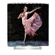 Ballerina Dancing Expressive Shower Curtain
