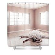 Ballerina Down Shower Curtain