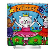 Ballerina Friends Shower Curtain