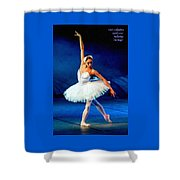 Ballerina On Stage L A Nv Shower Curtain