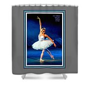 Ballerina On Stage L A With Alt. Decorative Ornate Printed Frame.  Shower Curtain