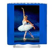 Ballerina On Stage L B Shower Curtain