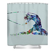 Ballerina On The Stage Shower Curtain by Naxart Studio