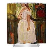 Ballerina Preparation Shower Curtain