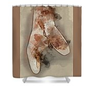 Ballerina Shoes - By Diana Van Shower Curtain