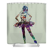 Ballerina Watercolor Shower Curtain by Naxart Studio