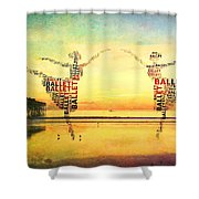 Ballet At The Pier Shower Curtain