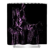 Ballet Before The Curtain Rises  Shower Curtain